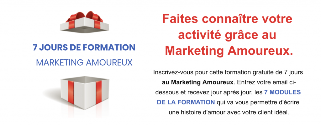 Formation gratuite au Marketing Amoureux